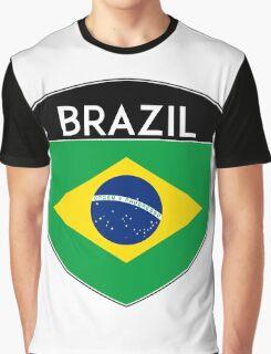 BRAZIL BRASIL FLAG CREST BADGE EMBLEM 2 Graphic T-Shirt