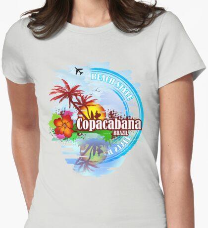 Copacabana Brazil Womens Fitted T-Shirt