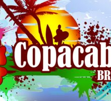 Copacabana Brazil Sticker