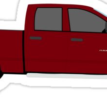 2006 2007 2008 Dodge Ram - dark red Sticker