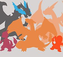 Charizard-evolution by SamOliver