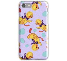 Baby duckling and eggs pattern iPhone Case/Skin