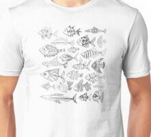 Silver Inked Fish Unisex T-Shirt