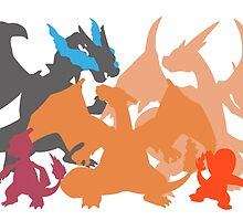 Charizard-evolution   Tshirt by SamOliver