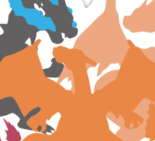 Charizard-evolution   Tshirt Sticker