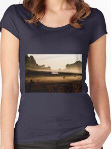Sunrise on Bush Rd. XV Women's Fitted Scoop T-Shirt