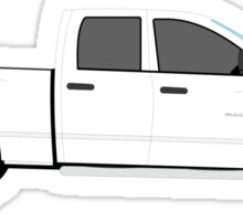 2006 2007 2008 Dodge Ram - white Sticker