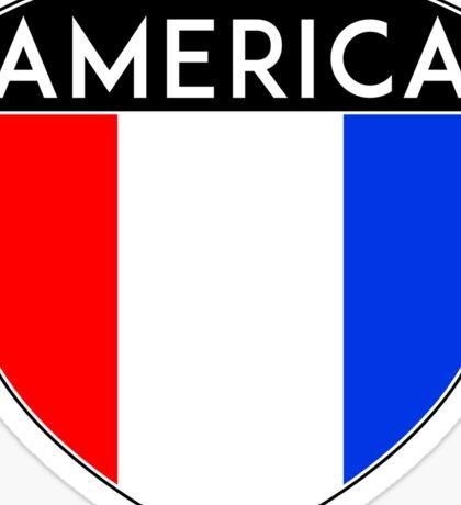 AMERICA USA FLAG UNTIED STATES OF AMERICA BADGE EMBLEM CREST Sticker