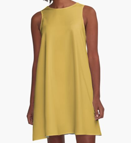 Mustard Yellow Color  A-Line Dress