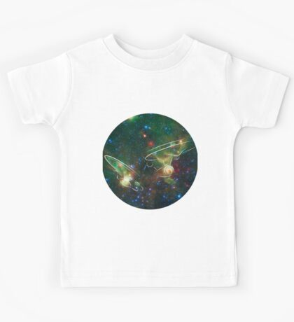 Enterprise Nebula With Outline of the Starships Kids Tee