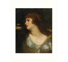 George Romney PORTRAIT OF EMMA HAMILTON AS JOAN OF ARC Art Print