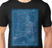 0168 Railroad Maps Indexed map of Rhode Island showing the railroads in the State and the express company doing business over each also counties townships lakes rivers Inverted Unisex T-Shirt