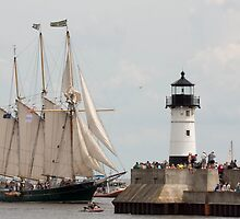 Light House and Tall Ship by Tina Hailey