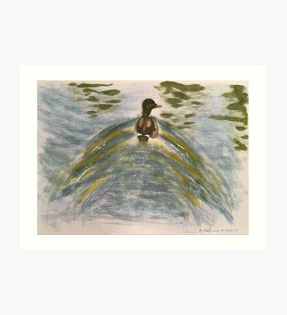 Duck on water-scroll down to view more of my work Art Print