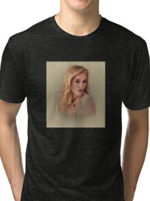 Gillian Anderson Painting  Tri-blend T-Shirt