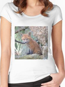 Fox Wildlife Women's Fitted Scoop T-Shirt