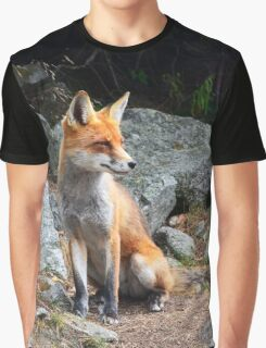 Fox Animal Graphic T-Shirt