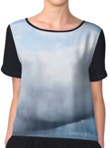 Storm Cloud Chiffon Top