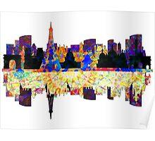 Paris France, City Skyline Poster