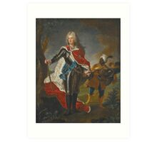 Hyacinthe Rigaud PORTRAIT OF FREDERICK AUGUSTUS II, ELECTOR OF SAXONY  Art Print