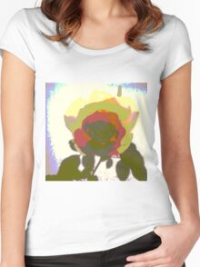 The Pop Art Rose Women's Fitted Scoop T-Shirt