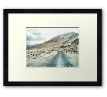 Dirt road in the Himalayas Framed Print