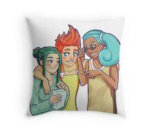 Poke-Girls Starters Throw Pillow