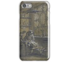 Jean-Baptiste Oudry RAGOTIN BEING TREATED WITH A SUCTION CUP iPhone Case/Skin