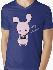 Photographer Jelly Bunny Mens V-Neck T-Shirt