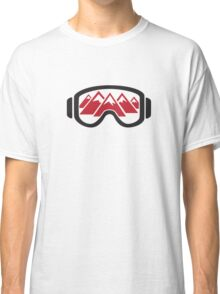 Reflected Mountains in Ski Goggles Classic T-Shirt
