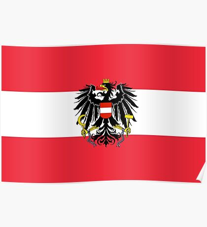 AUSTRIA (WITH COAT OF ARMS) Poster