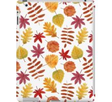 Autumn leaves seamless pattern iPad Case/Skin