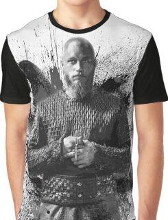 Ragnar Lothbrok b&w Graphic T-Shirt
