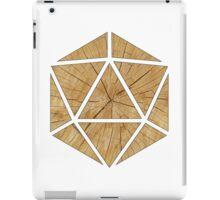 Wood d20 iPad Case/Skin