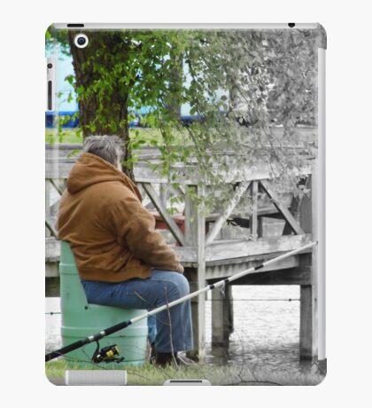 Fishing In half Color iPad Case/Skin