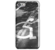 Black and White Disabled Tennis Badge iPhone Case/Skin