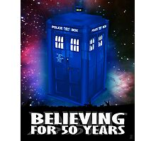 DR WHO BELIEVING Photographic Print