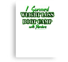 I survived Weight Loss Boot Camp Canvas Print