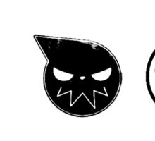 Bleach-Naruto-Death Note-One Piece (Anime mash-up) Sticker