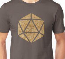 Wood d20 Unisex T-Shirt