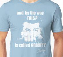 Science Mic Drop (Dark background) Unisex T-Shirt
