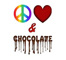 Peace Love & Chocolate by Lallinda