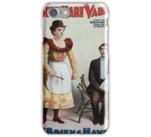 Performing Arts Posters Joseph Hart Vaudeville Co direct from Weber Fields Music Hall New York City 0347 iPhone Case/Skin