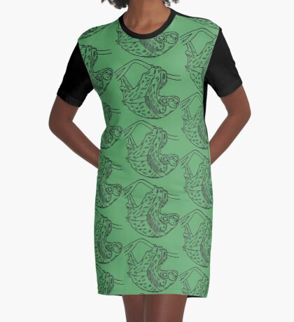 Sloths Graphic T-Shirt Dress