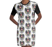 AUSTRIA (COAT OF ARMS) Graphic T-Shirt Dress