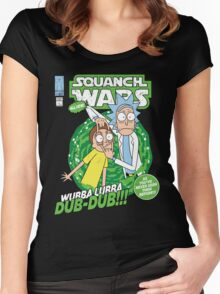 Squanch Wars Women's Fitted Scoop T-Shirt