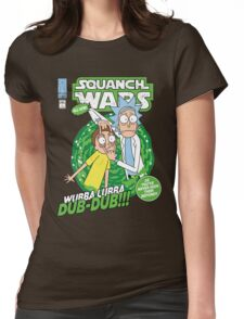 Squanch Wars Womens Fitted T-Shirt