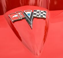Chevrolet Corvette - Red Hood Badge by Mike Koenig