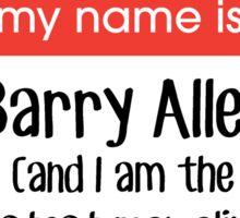 My name is Barry Allen... Sticker