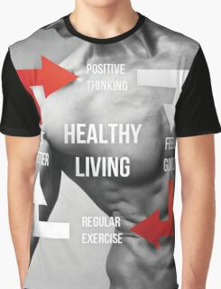 Healthy Living Infographic Graphic T-Shirt